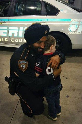 Indian-American Sikh police officer Sandeep Singh Dhaliwal. (Photo: Twitter/@SheriffEd_HCSO)