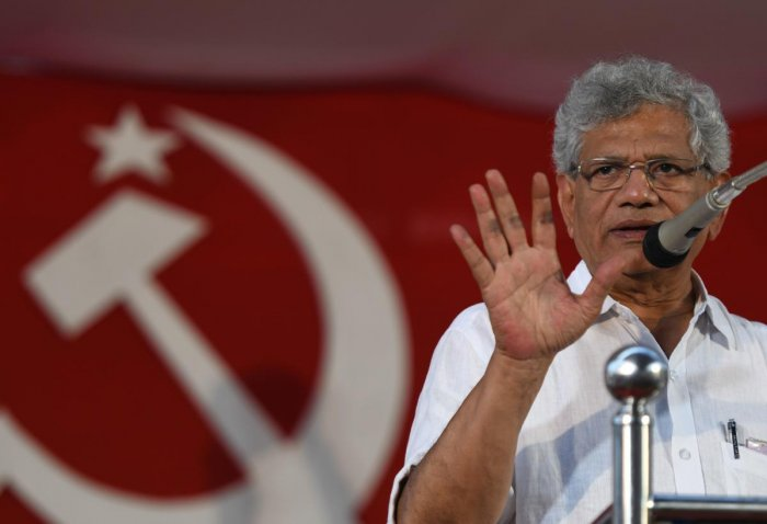 Yechury's remarks come soon after Shah while addressing a BJP seminar on the National Register of Citizens in Kolkata said the NRC, which till now is restricted to Assam, is essential for the security of the country and will be implemented. Photo/AFP