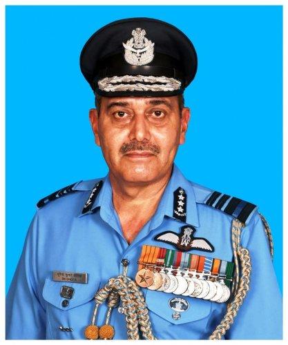 Air Marshal S K Ghotia. COURTESY OF IAF