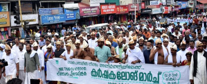 Thousands of students took out a rally in Wayanad demanding to lift the curb. (DH Photo)