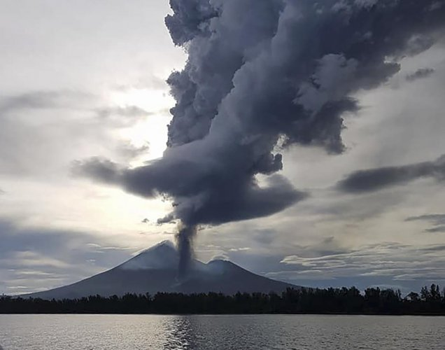Mount Ulawun, situated on the remote Bismarck Archipelago chain, displaced between 7,000 and 13,000 people from their homes when it last erupted in June. AFP/Courtesy of Christopher Lagisa