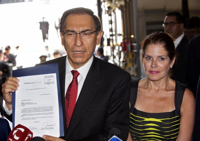The announcement by President Martin Vizcarra came after he warned Congress he would dissolve the body if it continued to block a raft of anti-corruption reforms and changes to the way judges are appointed to the country's Supreme Court. AFP file photo