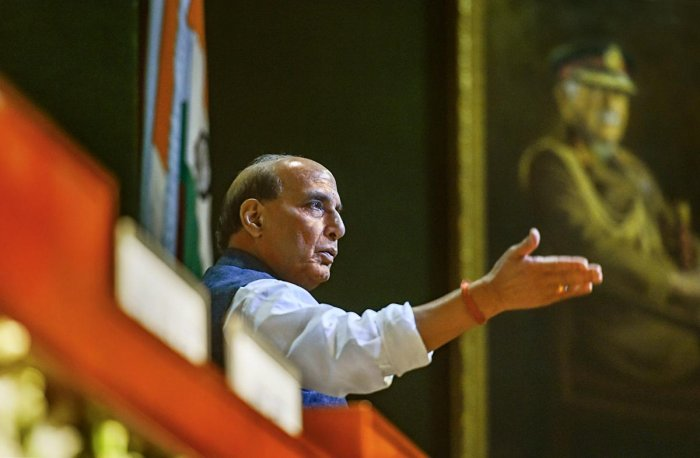 Defence Minister Rajnath Singh at the 273rd annual day function of Defence Accounts Department (DAD) in New Delhi, Tuesday, Oct. 01, 2019. PTI