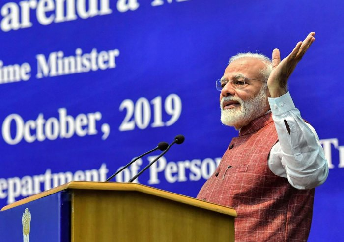Modi said that according to an estimate, 11 lakh new jobs will be created out of the scheme in the next 5-7 years. PTI Photo