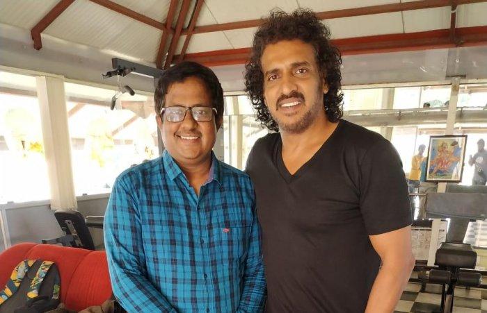 Naveen Dwarakanath with Upendra