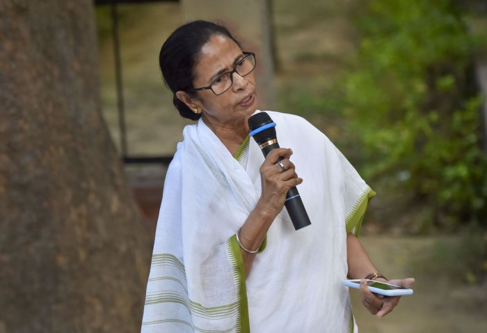 West Bengal Chief Minister Mamata Banerjee speaks to media after meeting with Prime Minister Narendra Modi. (PTI Photo)