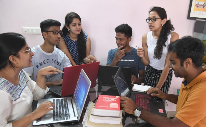 Brainstorming is intuitively appealing and groups in diverse settings embrace it to initiate projects. DH Photo/ Srikanta Sharma R