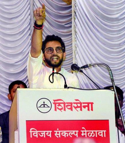 Yuva Sena chief Aaditya Thackeray, the elder son of party chief Uddhav Thackeray. (PTI Photo)