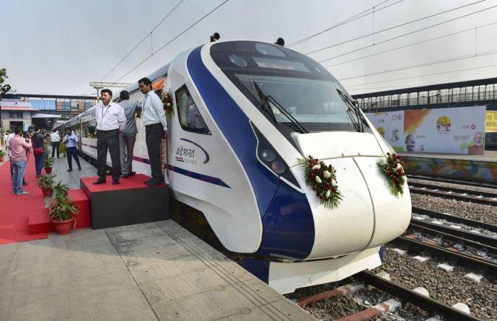 The Delhi-Katra Vande Bharat Express. (PTI Photo)