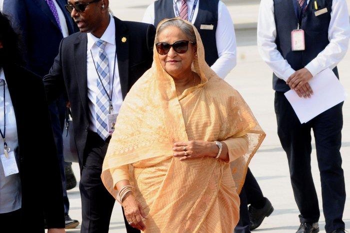 Bangladeshi prime minister Sheikh Hasina. (AFP Photo)