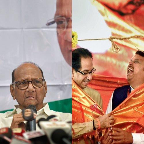 BJP-Shiv Sena led six-party 'MahaYuti' and MahaAghadi' led by Congress-NCP. (PTI Photo)