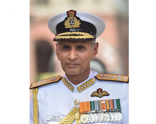 Admiral Karambir Singh, the 24th Chief of the Naval Staff (PTI Photo)