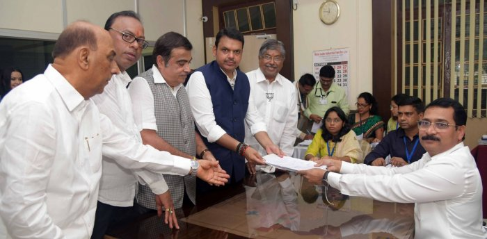Maharashtra Chief Minister filing his nomination from the South West Nagpur constituency for the upcoming Maharashtra Assembly elections. Photo/Twitter (Devendra Fadnavis)