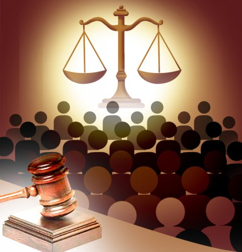 Law court balance gavel