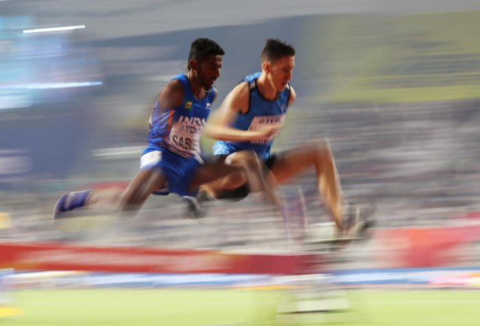 Avinash, a farmer's son from Mandwa village in Maharashtra, clocked 8 minute 21.37 seconds to breach the Olympics qualifying standard of 8:22.00 seconds while finishing 13th in the men's 3000m steeplechase final on Friday night. Photo/Reuters