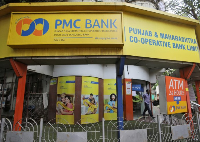 PMC (Punjab and Maharashtra Co-operative) Bank branch in Mumbai. (PTI Photo)
