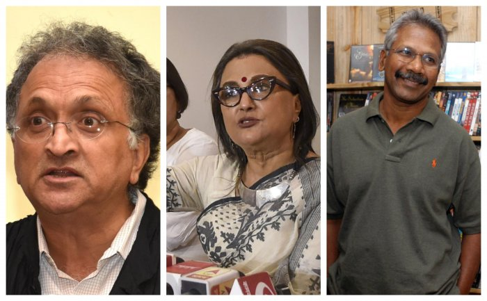 (From Left to Right) Ramachandra Guha, Aparna Sen and Mani Ratnam