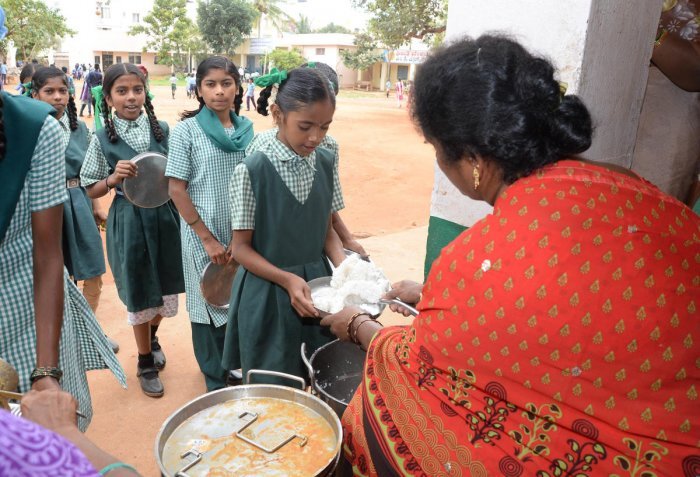 The state government is examining the possibility of including 'sprouts' in the existing mid-day meal menu.