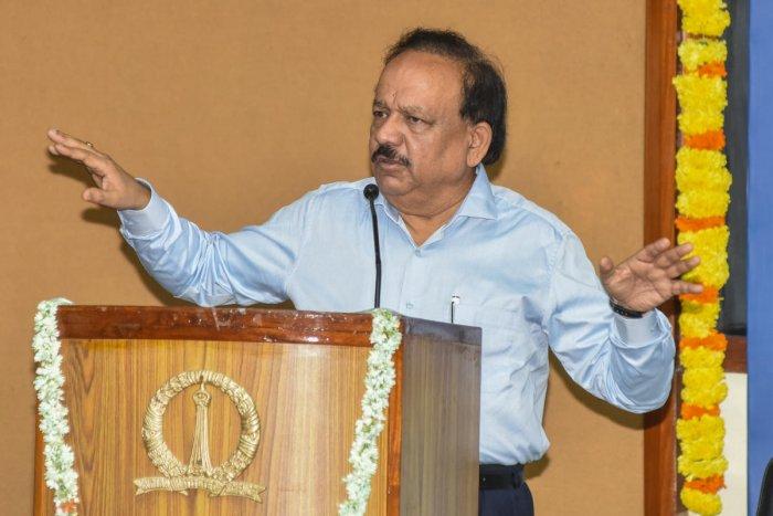 Union Health Minister Harsh Vardhan. (DH Photo)