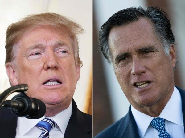 """Trump's tweet in this regard came a day after Senator Romney, who during the 2016 presidential elections had called the president a """"con artist"""" and criticised him for his handling of the Ukrainian issue."""