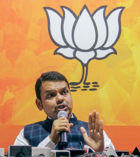"Fadnavis' Congress opponent Ashish Deshmukh termed the bungling in the name as ""forgery"" and accused the chief minister of ""trying to hide something"". Photo/PTI"