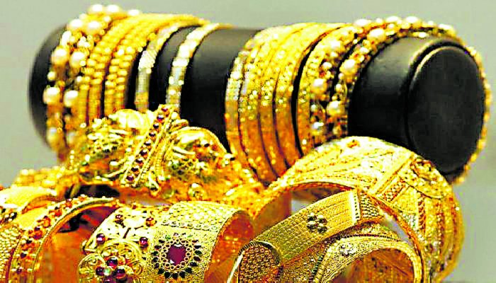The yellow metal slipped Rs 30 as compared to the previous close of Rs 39,240 on Saturday.