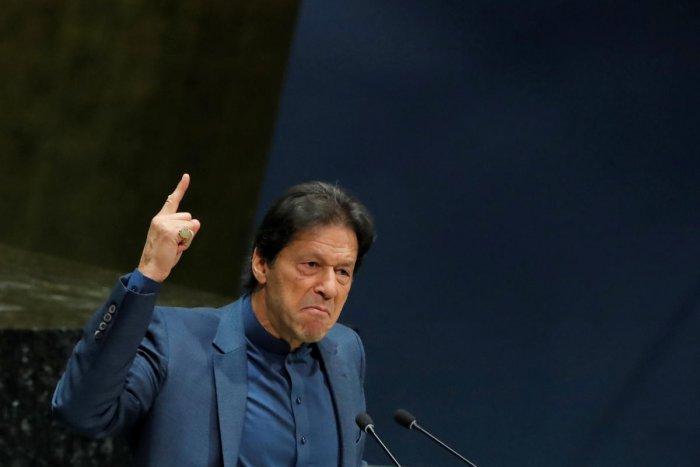 Pakistan Prime Minister Imran Khan (Photo by AFP)