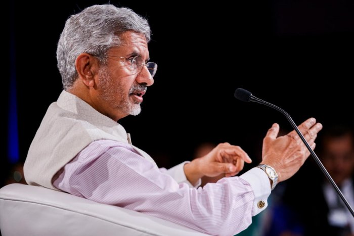 External Affairs Minister S Jaishankar speaks during a session at the India Economic Summit 2019 in New Delhi (PTI Photo)