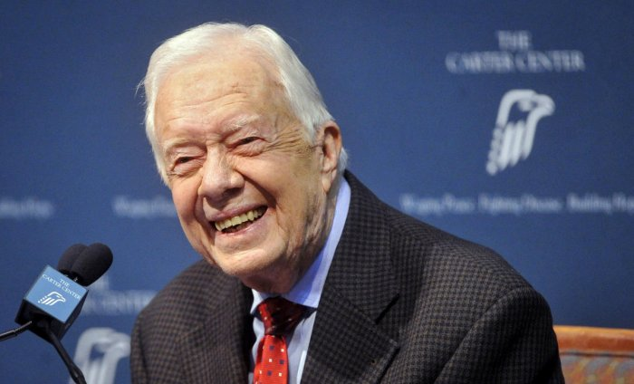 Carter turned 95 last Tuesday, becoming the first US president to reach that milestone. Photo/AFP