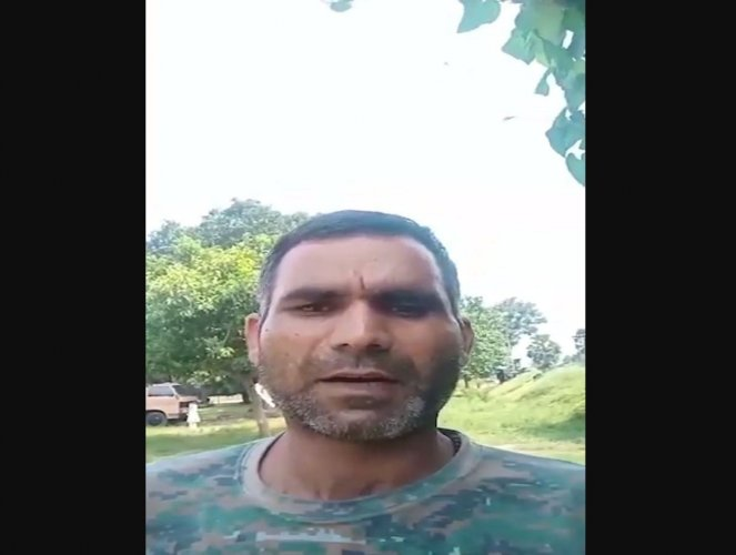 The jawan identified himself as Pramod Kumar posted as a constable with the 74th battalion of the Central Reserve Police Force (CRPF) in Naxal-hit Sukma district. Photo/Video screengrab