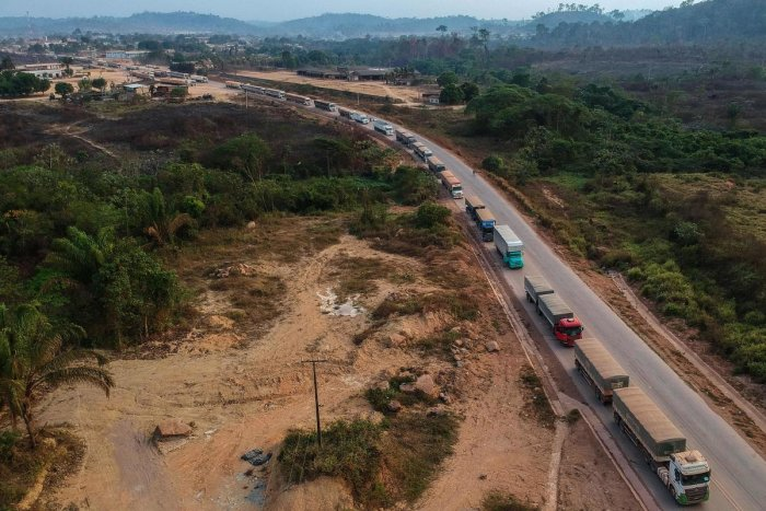 The BR230 and BR163 are major transport routes in Brazil that have played a key role in the development and destruction of the world's largest rainforest, now being ravaged by fires. (AFP File Photo)