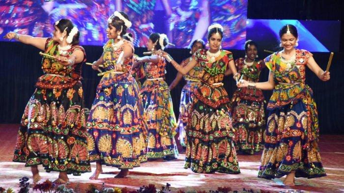 A Lambani dance performance at Gandhi Maidan in Madikeri.
