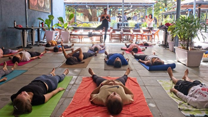 Pound fitness and yoga sessions are conducted at 1Q1 on Queen's Road.