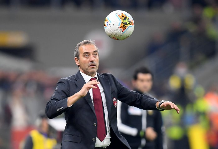 Former AC Milan coach Marco Giampaolo. (Reuters Photo)