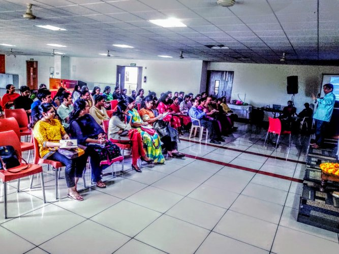 Pre-marital counselling is necessary keeping in view the shift in people's attitudes because of changing social structures. (Above) A seminar conducted by Manasa Consultants.