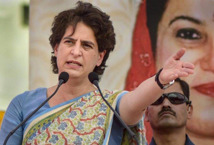 Congress leader Priyanka Gandhi Vadra.