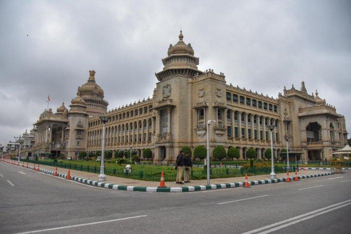 Vidhana Soudha in Bengaluru. (Photo by S K Dinesh)