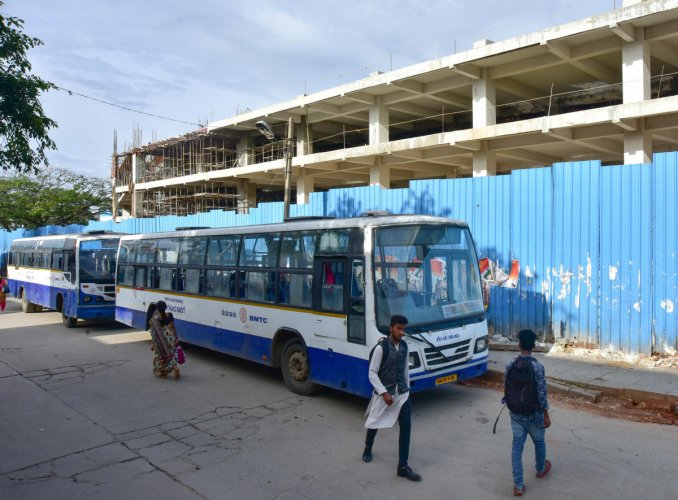The absence of bus shelter and toilet facilities is causing inconvenience to passengers. Dh file photo