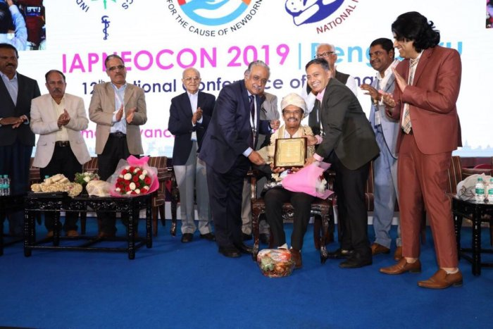 Dr B Shantharam Baliga was felicitated with the Lifetime Achievement Award in Bengaluru.