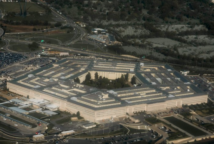 The Pentagon is viewed outside Washington, DC. (AF Photo)