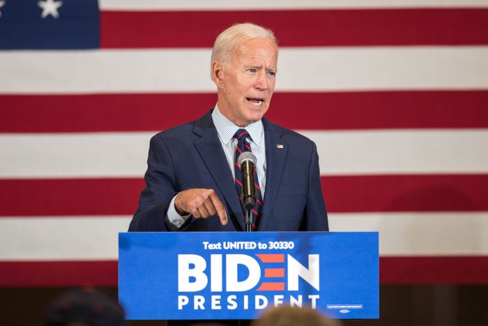 Democratic presidential candidate, former Vice President Joe Biden speaks during a campaign event. (AFP Photo)