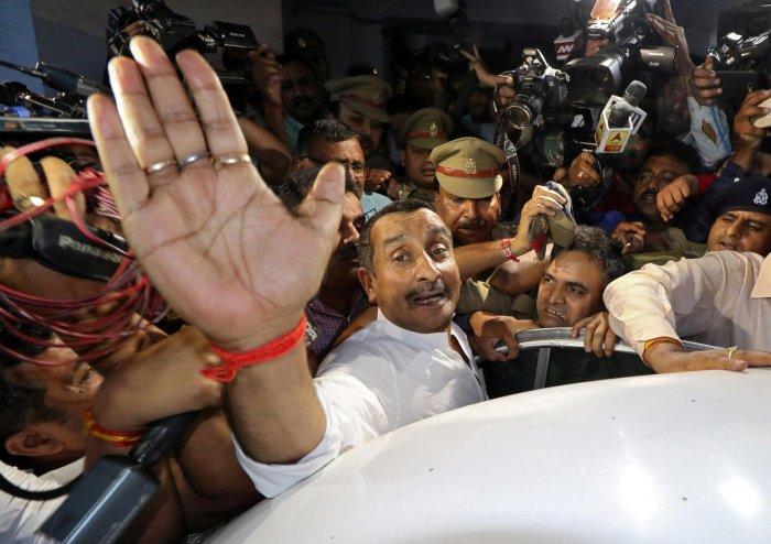 Kuldeep Singh Sengar, a legislator of Uttar Pradesh state from India's ruling Bharatiya Janata Party (BJP)(Photo by Reuters)