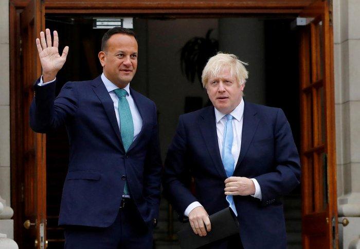 Leo Varadkar with Boris Johnson. (Reuters File Photo)