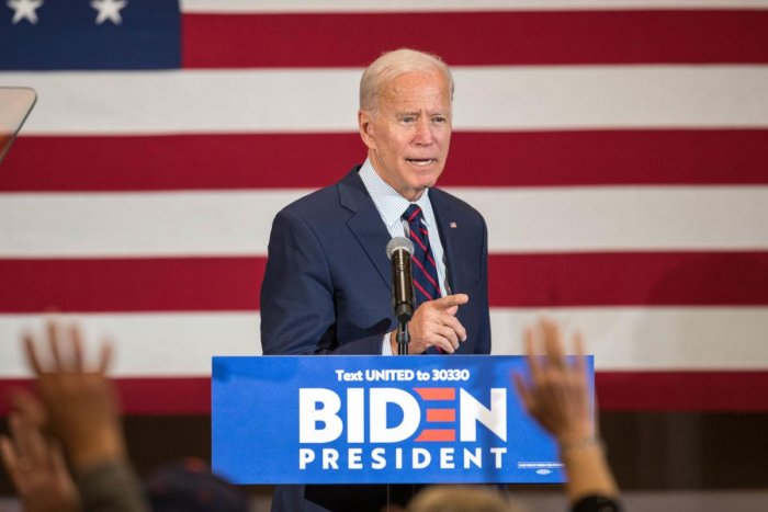 Democratic presidential candidate, former Vice President Joe Biden speaks during a campaign event on October 9, 2019 in Manchester, New Hampshire. (Scott Eisen/Getty Images/AFP)