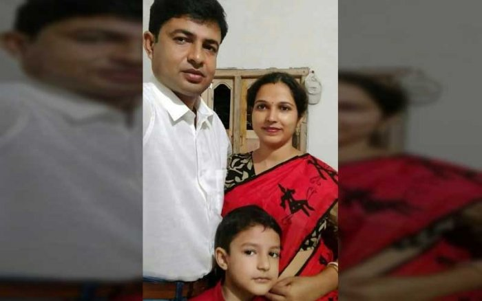 The bodies of the 35-year-old teacher Bandhu Gopal Pal, his pregnant wife Beauty and 8-year-old son Angan were found lying in pools of blood in their house at Jiaganj in Murshidabad on Tuesday when the Durga Puja festivities were on.