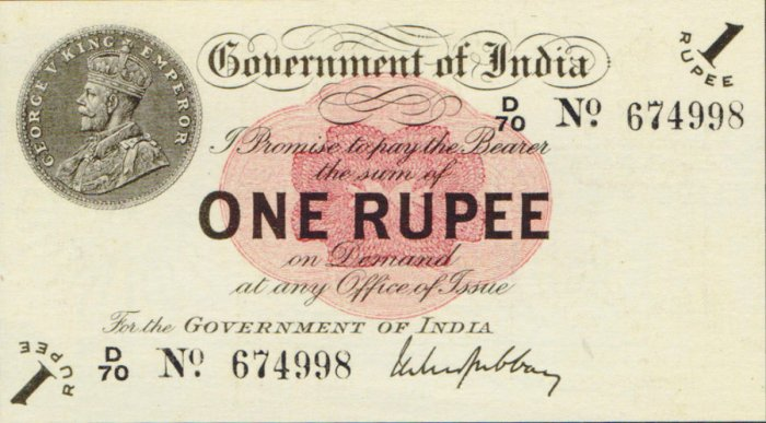 Old one rupee note (Representative Image) (DH File Image)
