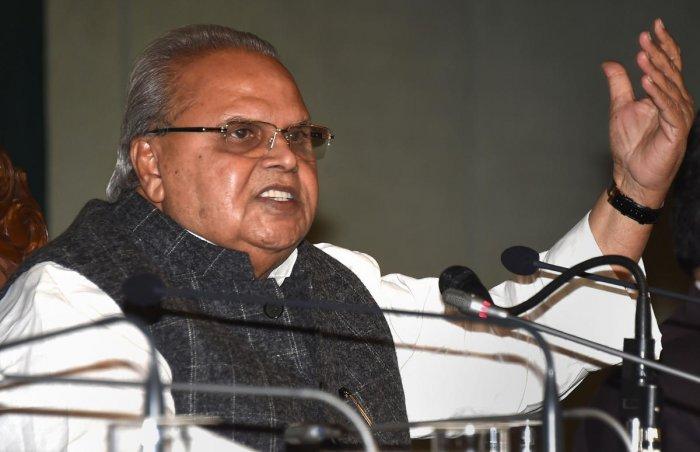 Jammu and Kashmir Governor Satya Pal Malik. (PTI Photo)