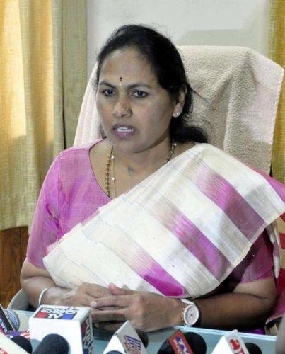 Udupi-Chikmagalur MP Shobha Karandlaje