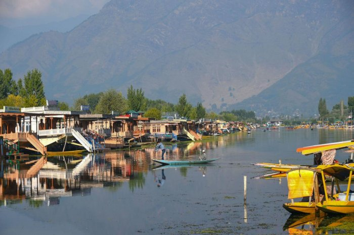 Empty shikaras and houseboats inside the famous Dal Lake in Srinagar, Thursday, Oct. 10, 2019. (PTI Photo)