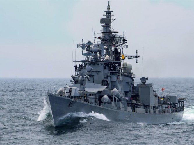 INS Ranvijay, a guided-missile destroyer. File photo